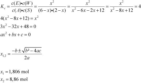 berechnungen zum massenwirkungsgesetz