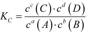 gleichgewichtskonstante massenwirkungsgesetz - Massenwirkungsgesetz Beispiel
